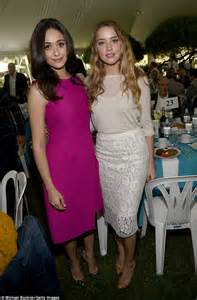 Emmy Rossum And Amber Heard In Pink And Pastel At La