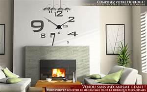 Grande Horloge Murale Originale : stickers chiffres horloge ~ Teatrodelosmanantiales.com Idées de Décoration