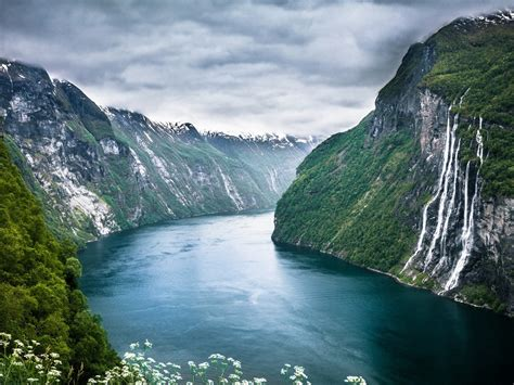 Seven Sisters Waterfall Norway Hd Nature Wallpapers