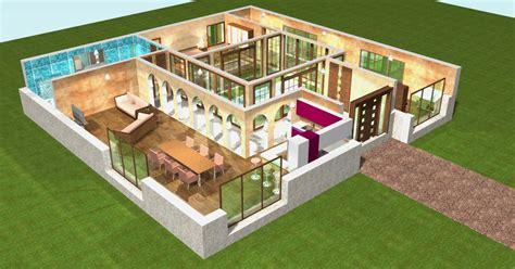 chambre americaine pour ado plan de maison plain pied 3d