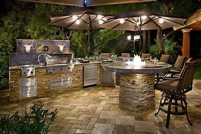 Kitchen Outdoor Outside Cooking Stone