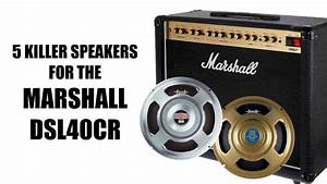The 5 Best Speakers For A Marshall Dsl40cr Amplifier