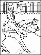 Coloring Horse Racing Barrel Rodeo Printable Template Popular Templates Coloringhome sketch template