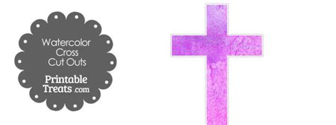 light purple watercolor cross cut outs