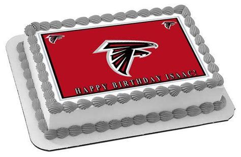 edibles atlanta atlanta falcons edible cake topper cupcake toppers strips edible prints on cake epoc