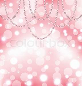 Cute pink background with pearls   Stock Vector   Colourbox