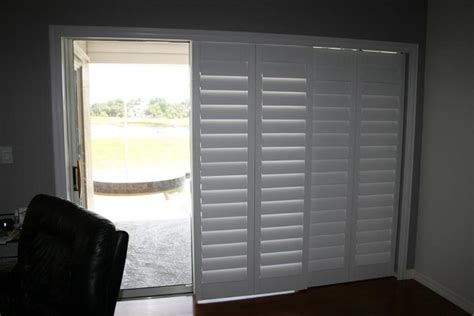 bifold shutters french patio doors  blinds  glass