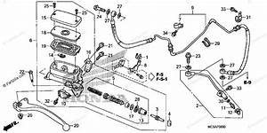 Honda Motorcycle 2010 Oem Parts Diagram For Clutch Master