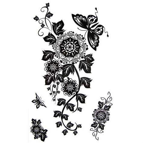 tatouage temporaire fleur mandala  papillon tempo tattoo