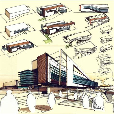 1363 Best 3d Hand Drawn Architectural Images On Pinterest