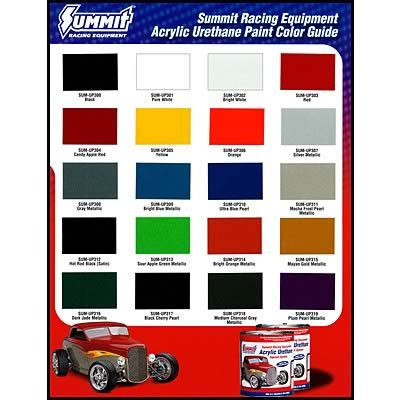 summit racing 174 paint chip charts free shipping on orders