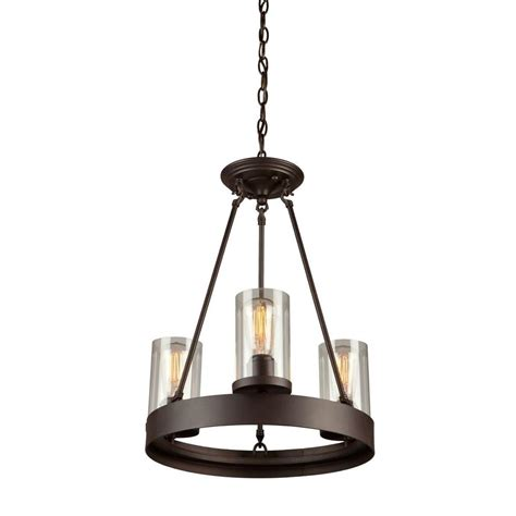 brown chandelier filament design norman 3 light brown chandelier cli