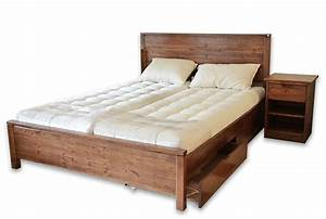 Lit Double Bois : base lit double en bois ~ Premium-room.com Idées de Décoration