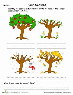learn the four seasons worksheet education 679 | learn seasons weather seasons kindergarten