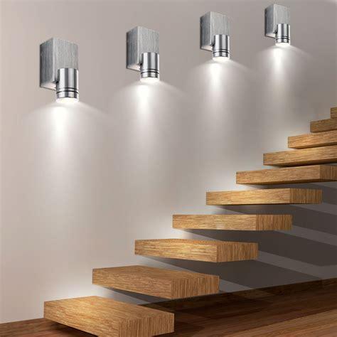 Treppenhaus Led Leuchten by 6er Set Led Wand Spot Leuchten Wohn Ess Zimmer Beleuchtung