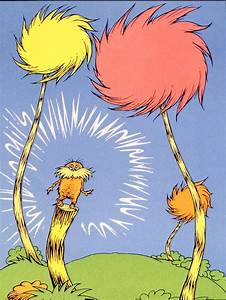 The Lorax Book Cover - 17 U0026quot  X 15 U0026quot  - Lithograph