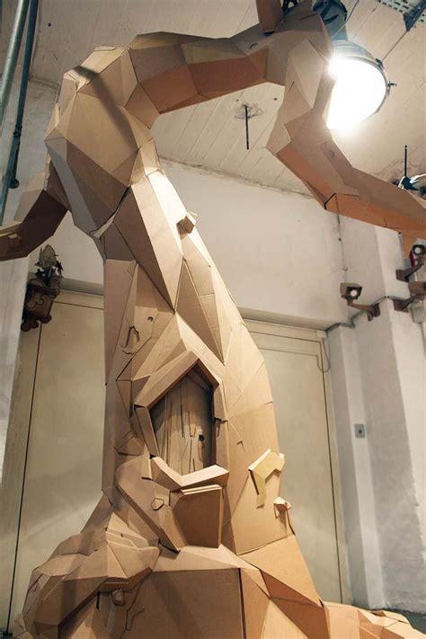 cardboard tree ideas  pinterest fake trees