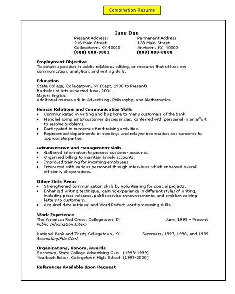 Resume Model by Resume Resume Models Model Curriculum To Show Your
