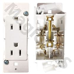 Snap On Self Contained Receptacle   White