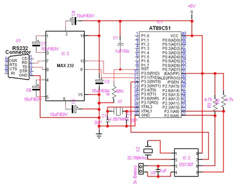 real time clock interfacing ds1307 with at89s51 free microcontroller projects 8051 avr