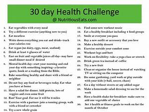 Lacking Motivation? Join My 30 Day Health Challenge ...