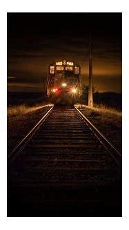 landscape, Nature, 2350, Train, Railway, Dry Grass, Lights ...