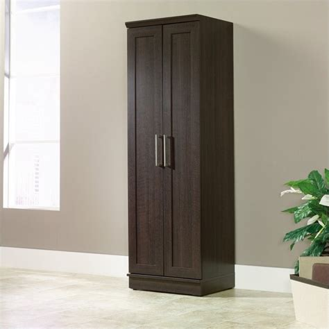 sauder homeplus storage cabinet dakota oak finish homeplus storage cabinet in dakota oak 411985