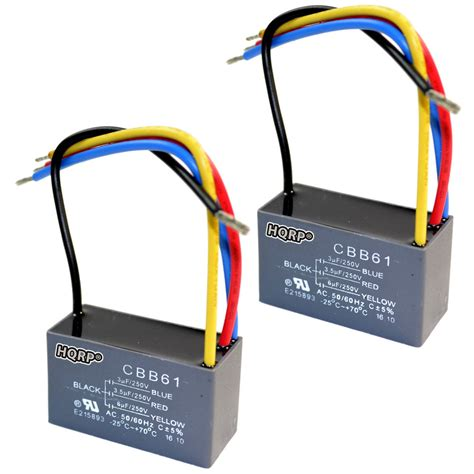 2 pack capacitor for harbor breeze ceiling fan 3uf 3 5uf