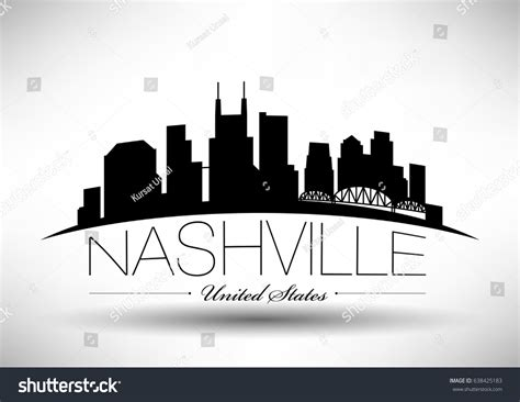 graphic design nashville tn vector graphic design nashville city skyline stock vector