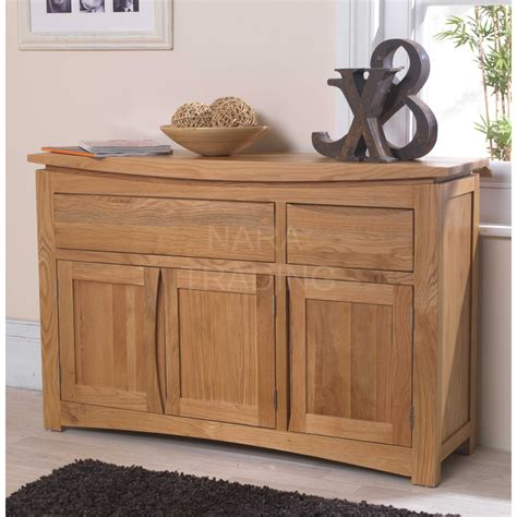 Oak Sideboards Uk by Crescent Solid Oak Dining Room Furniture Three Door Two