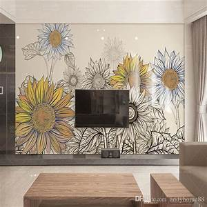 3d Modern Minimalist Tv Wall Background Wall Wallpaper ...