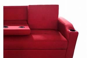Canapé Rouge Convertible : canap convertible napoli rouge 3 canap chesterfield pas cher ~ Teatrodelosmanantiales.com Idées de Décoration