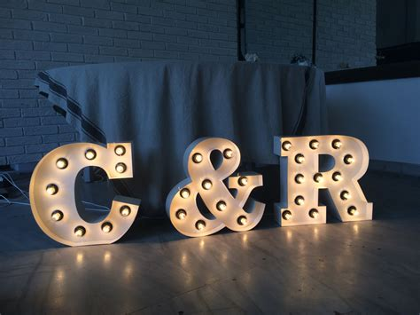metal light up letters metal letters marquee light up letters wedding decor wedding