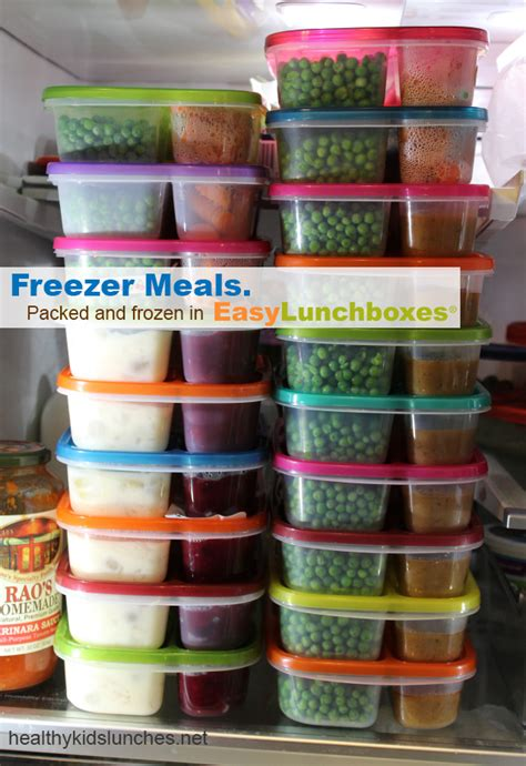 freezer meals ahead packed easy lunch pack easylunchboxes dinners food frozen containers lunches healthy cooking freeze meal lot microwaveable box
