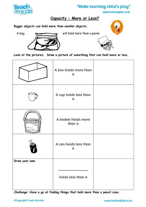 printable worksheets 187 capacity worksheets ks1 printable