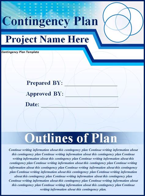 contingency operations plan template contingency plan template best word templates