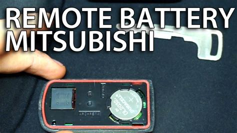 How Replace Battery Mitsubishi Key Fob Remote