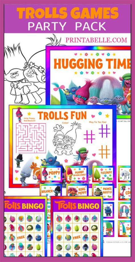 printable christmas party games pack download trolls pack printable invitations and more