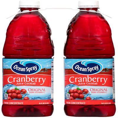 Ocean Spray Cranberry Juice Cocktail, 2 pk./96 oz.   BJs