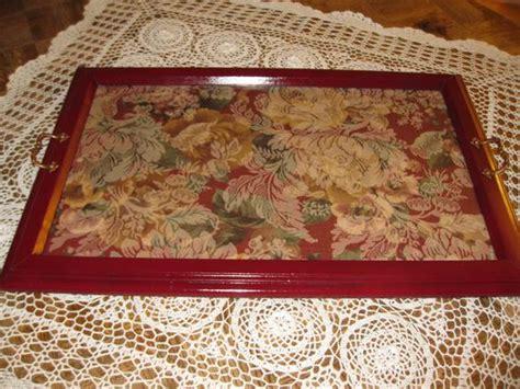 wood vanity tray antique vanity tray painted wood frame carpet bag fabric