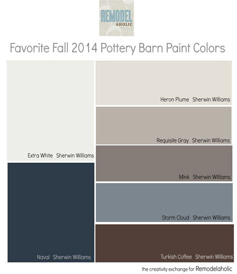 favorites from the fall 2014 pottery barn paint color