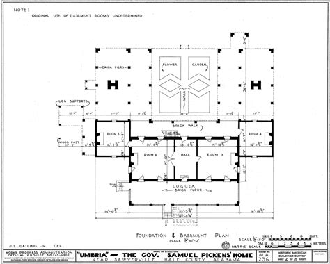 architecture plans file umbria plantation architectural plan of raised basement png