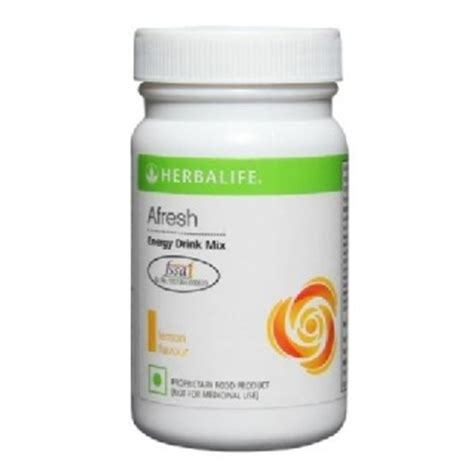 Herbalife Afresh Energy Drink Mix, 005 Kg Lemon Buy 1 Get