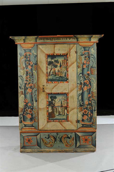 armadio dipinto armadio in legno dipinto arte tirolese xix secolo