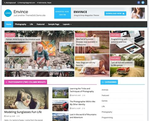 News Themes 21 Best Free Responsive Magazine Themes 2017