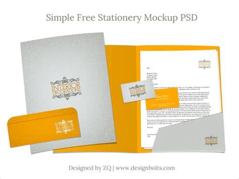 stationery mockup psd letterhead business card