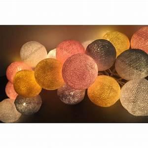 Boule Lumineuse Guirlande : guirlande de 35 boules lumineuses ~ Teatrodelosmanantiales.com Idées de Décoration