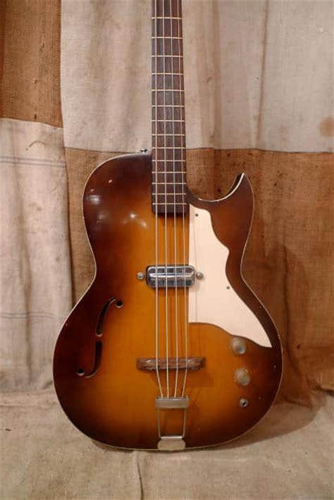 Kay Hollow Body Bass Guitar 1950's Sunburst Reverb