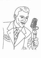 Singer Coloring sketch template