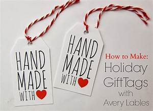 tutorial how to make holiday gift tags with avery labels With how to make homemade labels